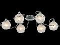 Plafoniera Modern Spazio,6 becuri dulie E14, 230V,D.74cm, H.15 cm,Crom