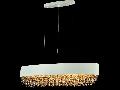 Lampa suspendata Modern Rivera ,6 x E14, D.80, cm, H.20 cm,Alb