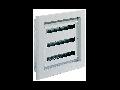 tablou metalic cu montaj incastrat fara usa, 650x740x140 mm