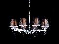Candelabru Modern Arte,8 becuri dulie E14, 230V,D.70cm, H.42 cm,Crom