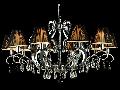 Candelabru Modern Mina,10 becuri dulie E14, 230V,D.57cm, H.96 cm,Nichel