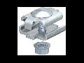 Oblon pentru capac jgheab metalic cu surub M8 mm
