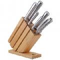 Set de cutite cu lama inox si suport din lemn KingHoff, 7 piese