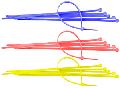 COLIER PLASTIC COLORAT (100 BUC) / 2.5X100MM VERDE