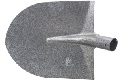 LOPATA ROTUNDA GRI CARBON PENTRU NISIP / 300X230MM