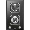 Plita incorporabila Lofra Diadema HGN320, 30 cm, plita gaz, 2 arzatoare,sistem siguranta Stop-Gaz,sticla neagra