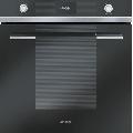 Cuptor incorporabil Smeg Linea  SF109N, electric, multifunctional, 60cm, 8 functii gatit, sticla neagra