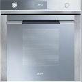 Cuptor incorporabil Smeg Linea  SFP105, electric, multifunctional, 60 cm, inox / sticla argintie, piroliza