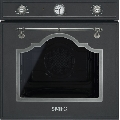 Cuptor incorporabil Smeg Cortina SF750AS, electric, multifunctional, 60cm, negru antracit