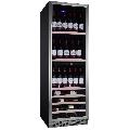 Vitrina de vinuri Nevada Concept NW140D-S, 140 sticle, doua zone, negru/otel inoxidabil
