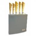 Set cutite cu lama inox si suport din lemn Kassel, 6 piese