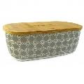 Cutie pentru paine Kassel, capac bambus, corp melamina