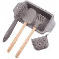 Set ustensile din silicon pentru prajituri Kassel, tava, manusa, pensula, spatula, tel