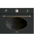 Cuptor incorporabil cu abur compact Smeg Coloniale SF4800VAO, electric, multifunctional, 60 cm, negru antracit