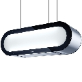 Hota design suspendata Baraldi Alexa 01ALXIS090ST90, 90 cm, 900 m3/h, sticla/inox