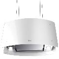 Hota design suspendata Baraldi Ideal 01IDEIS070STW70, 70 cm, 700 m3/h, sticla alba/inox