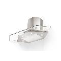 Hota insula de colt Faber Premio Angolo/SP EV8 Led X/V A90, 90 cm,  700 m3/h, inox / sticla