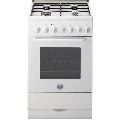 Aragaz Ardesia A5640EEW, 50x60 cm, gaz, 4 arzatoare, aprindere electronica, grill, cuptor electric multifunctional, alb