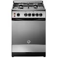 Aragaz Ardesia C640EBX, 60x60 cm, gaz, 4 arzatoare, aprindere electronica, grill, cuptor electric, inox