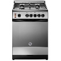 Aragaz Ardesia A640EBX, 50x60 cm, gaz, 4 arzatoare, aprindere electronica, grill, cuptor electric, inox