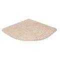 Etajera dus baie / Rafturi dus travertin Classic 30 x 30 x 2 cm (semirotund)