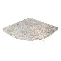 Etajera dus baie / Raft marmura Tundra 20 x 20 x 2 cm (semirotund)