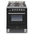 Aragaz ILVE Profesional line P70, 70X60cm, 4 arzatoare, cuptor electric, timer, aprindere electronica, negru