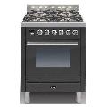 Aragaz ILVE Profesional line P70, 70X60cm, 4 arzatoare, cuptor electric, timer, aprindere electronica, negru mat