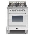 Aragaz ILVE Profesional line P70, 70X60cm, 4 arzatoare, cuptor electric, timer, aprindere electronica, alb
