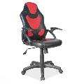 Scaun directorial SL Q100 negru - rosu