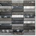 Mozaic din sticla, marmura si aluminiu, gri, Artist Grey 30x30 cm