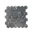 Mozaic Marmura Nero Marquina Hexagon Mata