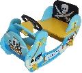 Balansoar din lemn pentru copii Blue Pirate Boat Style