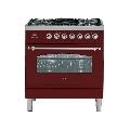 Aragaz ILVE Nostalgie Profesional line PN80, 80X60cm, 5 arzatoare, cuptor electric, arzator peste,aprindere electronica,visiniu