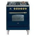 Aragaz ILVE Nostalgie Profesional line PN70, 70X60cm, 4 arzatoare, cuptor electric, timmer, aprindere electronica, albastru