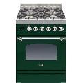 Aragaz ILVE Nostalgie Profesional line PN60, 60X60 cm, 4 arzatoare, cuptor electric, timmer, aprindere electronica, verde