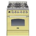 Aragaz ILVE Nostalgie Profesional line PN60, 60X60 cm, 4 arzatoare, cuptor electric, timmer, aprindere electronica, crem
