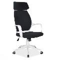 Scaun directorial SL Q188 alb - negru