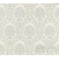 Tapet floral clasic argintiu Romantic 21775