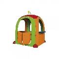 Casuta de joaca pentru copii Cocoon Playhouse din plastic cu 3 autocolante supermarket bucatarie si atelier - Paradiso Toys