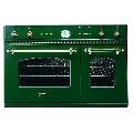 Cuptor incorporabil ILVE Nostalgie D900NCE3, 90cm, cuptor dublu, grill electric, verde smarald