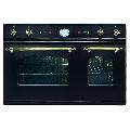 Cuptor incorporabil ILVE Nostalgie D900NE3, 90cm, cuptor dublu, grill electric, negru
