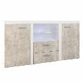 Comoda beton deschis/alb GL ROCHESTER