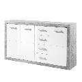 Comoda GL SLONE 3 beton - alb