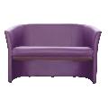 Fotoliu dublu piele ecologica violet GL CUBA
