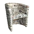 Fotoliu material textil motiv ziare GL CUBA