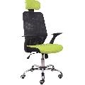 Scaun birou, verde/negru, GL REYES