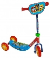 Trotineta pentru copii cu 3 roti Saica Paw Patrol 7368 cu roti din silicon albastru cu rosu