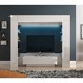 Dulap de lux pt. sufragerie cu iluminat LED alb/alb extra luciu ridicat GL MONTEREJ