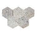 Travertin Kashmir Cross Cut Hexagon Antichizat 30.5 x 30.5 x 1.2 cm